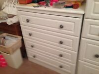 Chest of drawers. Two for sale. White.