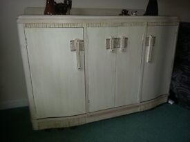 Beautifully painted sideboard, distressed cream