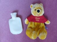 Lovely cute Winnie the Pooh hot water bottle soft toy cover & hot water bottle