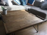 Bellange Reclaimed Wood Industrial Coffee Table