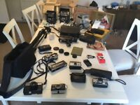 Vintage camera video camera projector job lot