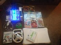 Wii ,Wii fit, games and extras ( cool fan )