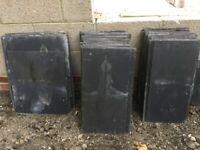 Fibre cement slate roof tiles