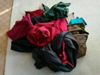 Free bag of fabric cloth scraps/unfinished projects