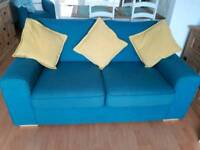 Two sofas & bucket chair for sale