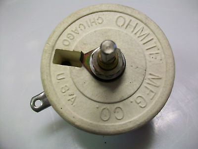 Ohmite 1.75 Ohm 75 Watt Rheostat 12 Shaft