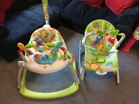 Space saver jumperoo & infant to toddler chair