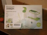 Joseph Joseph 3 Piece Kitchen Tidy Set White/Green_Ex-Display