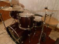 Ludwig Drum Kit with Sabian Cymbals - used.