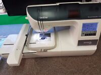Brother 750E embroidery machine, extra hoop, immaculate, loads of extras