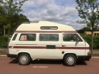 REDUCED FROM £13,998 TO £11,998 1990 VW T25 AUTOSLEEPER TRIDENT CAMPERVAN 50,480 MILES FSH NEW MOT