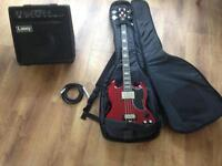 Epiphone bass , Amp , lead and bass bag combo