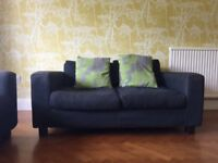 Habitat sofas. Three seater and two seater in charcoal grey.