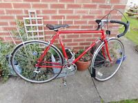 mans vintage res falcon oxford 21 inch frame racing bike with lock