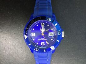 BLUE ICE WATCH IN GOOD CONDITION (REQUIRES BATTERY)