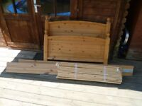 Single Pine Bed Frame and Headboard