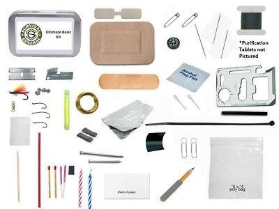 Altoids Tin Mini Survival Kit First Aid Fire Starting Fishing Emergency Pocket (Pocket Survival Kit)