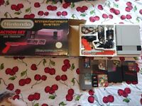 Nes action set boxed and five games