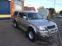 2004 mitubishi l200 warrior 2.5 diesel 4x4 12 months mot/3 months warranty
