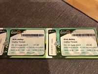 Rick Astley 2 Tickets Dalby Forest Friday 23rd June