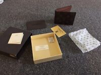 Louis Vuitton style real leather wallet