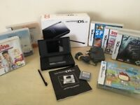 Black Nintendo DS Lite Console + Games + Original Box