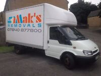 Man and Van Removals - Huddersfield - available 7 days a week. Large luton box van with tail lift.