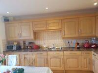 Kitchen Cupboard Units - Light Oak - Utility Units, Fridge, Freezer and Dishwasher Also Included