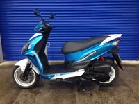 2016 SYM JET 4 125cc SPORTS SCOOTER , LOW MILES , GOOD CONDITION .