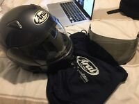 Arai crash helmet and tinted visor