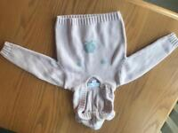 Little White Company Pink Bear Face Hoodie (brand new) Size 0-3 months