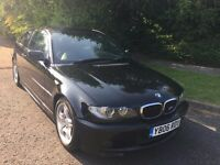 BMW 2.0 318 CI M SPORT COUPE 06 REG IN BLACK WITH GREY LEATHER, 92,400 MILES FULL SERVICE HISTORY,