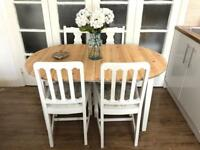 Pine table and chairs free delivery Ldn shabby chic extendable