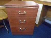 3 drawer bed side cabinet