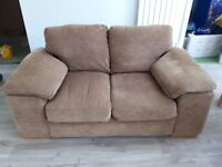 2 seater Harveys brown sofa for sale - 3 seater also available