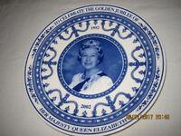 Wedgewood/ Daily Mail Plate Golden Jubilee Queen Elizabeth, brand new, £7