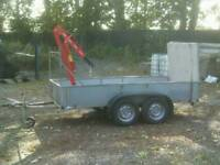 indespension twin axle hiab 10ft x 5ft trailer