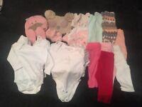 Newborn/0-3 months leggings vests hats scratch mits
