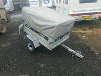 Daxara 127 car tipping trailer with extra high cover and frame