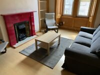 Gorgie Road, really bright and airy flat. 2 large double bedrooms plus study/small single