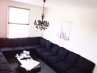 Large Charcoal Sofa