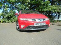 09 HONDA CIVIC EX GT I-VTEC 1.8,5 DOOR HATCHBACK,MOT AUG 022,2 OWNERS,2 KEYS,PART-HISTORY,LOVELY CAR