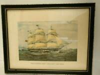 "Picture with frame: The Clipper ship,"" Anglesey 1150 Ton"