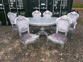 Italian Style Table and 6 Chairs- delivery available