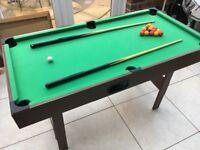 Pool/Snooker table 4ftx2ft