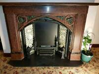 Antique Marble Fire Place Complete