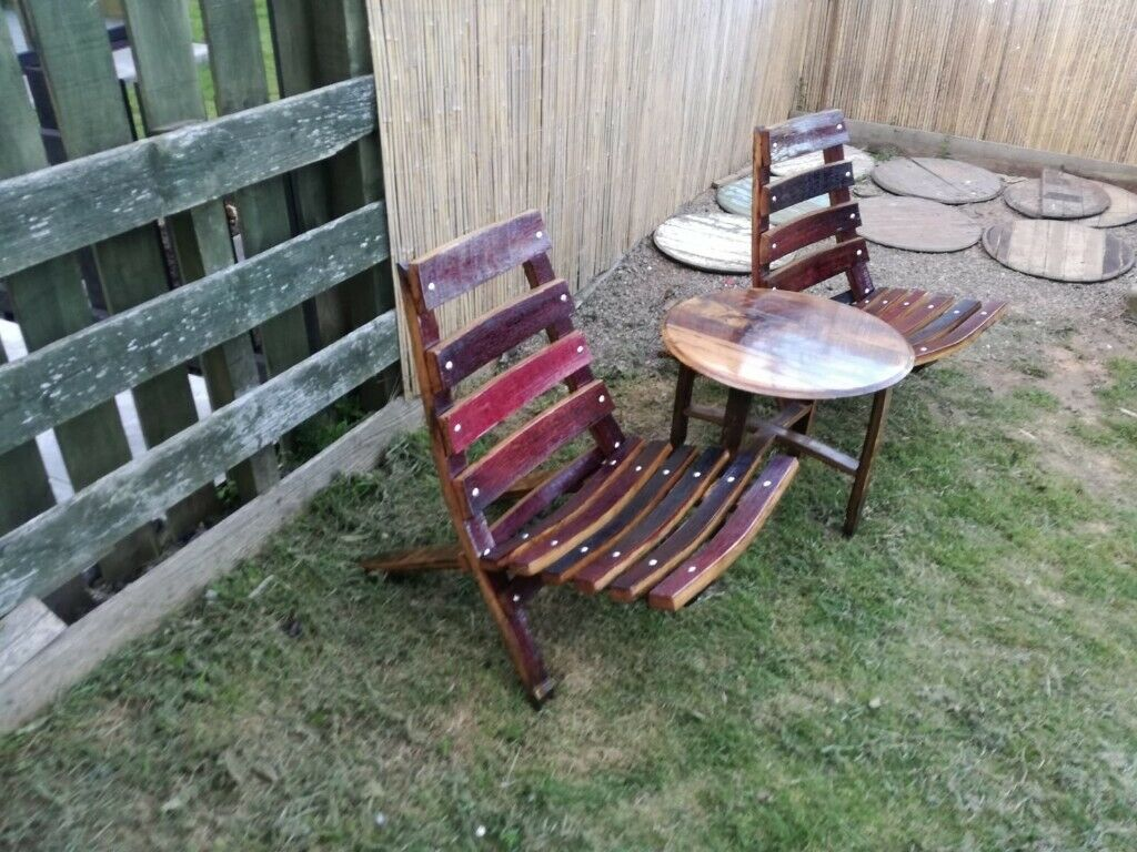 Miraculous Handmade Oak Garden Chairs And Table In Banff Aberdeenshire Gumtree Download Free Architecture Designs Rallybritishbridgeorg