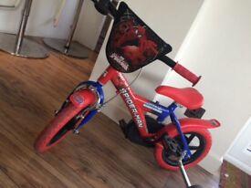 Boys Spiderman Bike