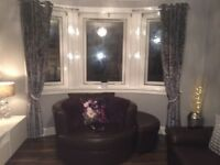 Brand new next charcoal Crushed Velvet curtains and matching cushions