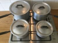 Set of 4 Pure Cast Aluminium Pans